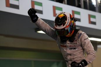 2015 GP2 Series Round 11.Yas Marina Circuit, Abu Dhabi, UAE.Saturday 28 November 2015.Stoffel Vandoorne (BEL, ART Grand Prix) Photo: Sam Bloxham/GP2 Series Media Service.ref:
